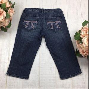 Nordstrom Seven7 Crop Bermuda Short Denim Jeans 28